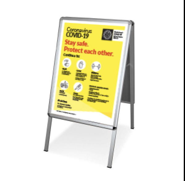 A1 Sandwich Board Covid-19 Sign