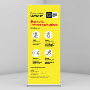 Covid-19 Roll Up Banner
