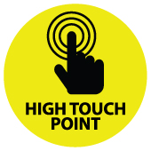 Covid-19 High-Touch Point Sticker